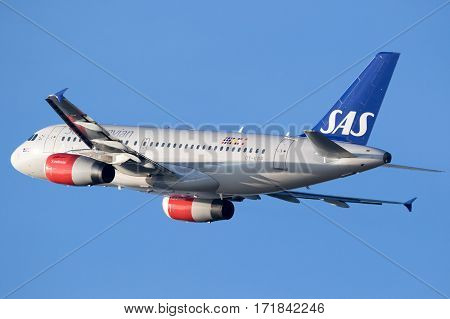 Airbus A319 From Sas Scandinavian Airlines