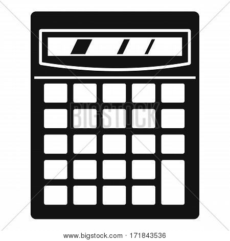 Electronic calculator icon. Simple illustration of electronic calculator vector icon for web