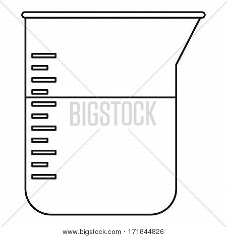 Kitchen measuring cup icon. Outline illustration of kitchen measuring cup vector icon for web