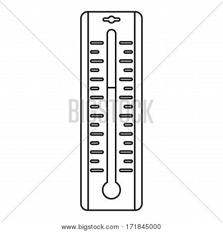 Thermometer icon. Outline illustration of thermometer vector icon for web