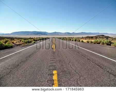 Looking West Along State Route 190 in Death Valley National Park, California, USA
