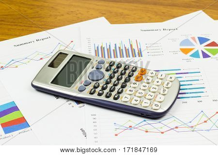 Calculations savings finances and analysis of the market concept.