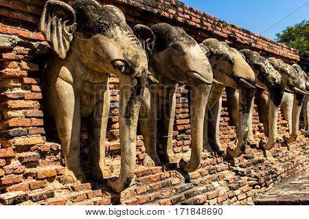 Sukhothai history park in  wad sorasak temple