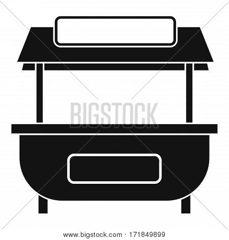 Empty counter with canopy icon. Simple illustration of empty counter with canopy vector icon for web