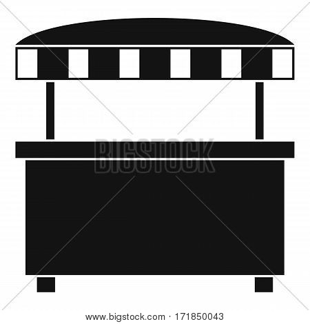 Street stall with awning icon. Simple illustration of street stall with awning vector icon for web