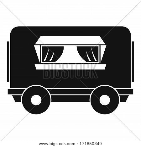 Food trailer icon. Simple illustration of food trailer vector icon for web