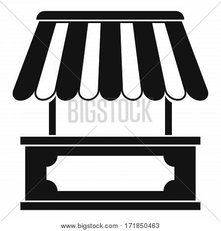 Street kiosk icon. Simple illustration of street kiosk vector icon for web