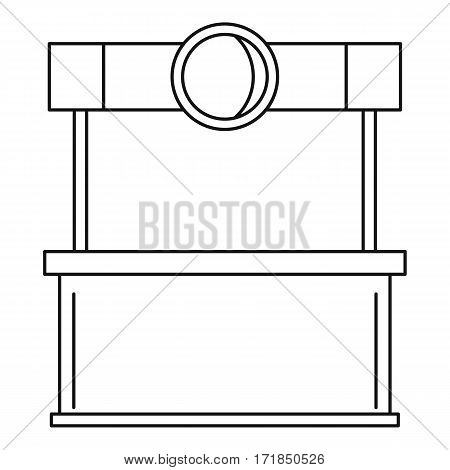 Street kiosk icon. Outline illustration of street kiosk vector icon for web