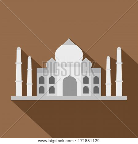 Taj Mahal icon. Flat illustration of Taj Mahal vector icon for web