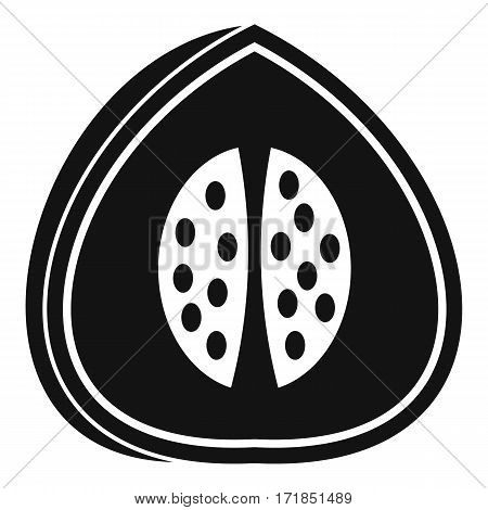 Watermelon icon. Simple illustration of watermelon vector icon for web