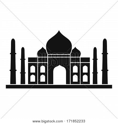 Taj mahal icon. Simple illustration of taj mahal vector icon for web