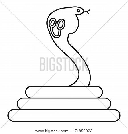 Cobra icon. Outline illustration of cobra vector icon for web
