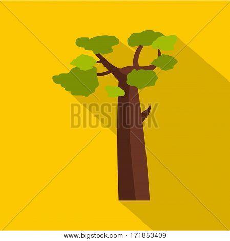 Baobab icon. Flat illustration of baobab vector icon for web