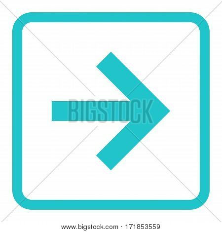 Use it in all your designs. Arrow sign in square icon created in thin line style. Quick and easy recolorable graphic element in technique vector illustration