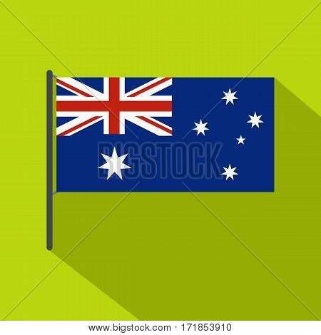 Australian flag icon. Flat illustration of australian flag vector icon for web