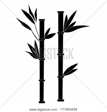 Isolated silhouette of bamboo, Spa icon vector illustration