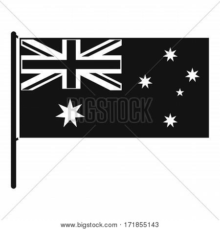 Australian flag icon. Simple illustration of australian flag vector icon for web