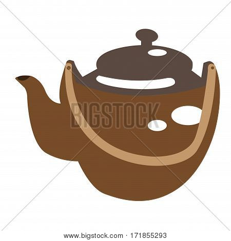 Isolated tea pot on a white background, Spa icon vector illustration