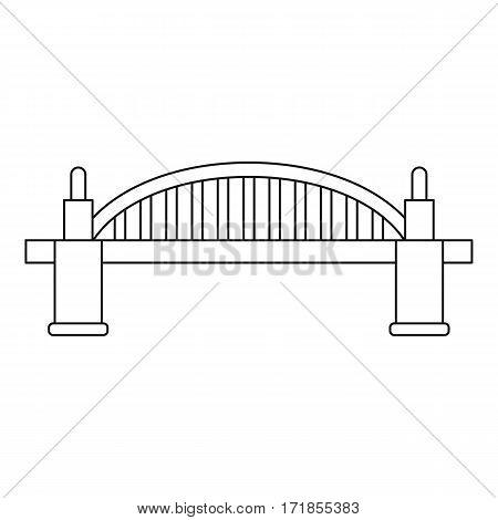 Bridge icon. Outline illustration of bridge vector icon for web