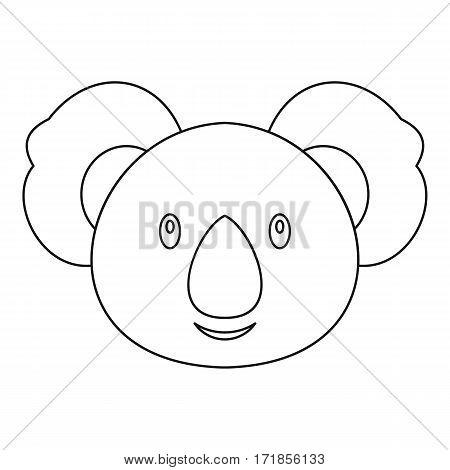 Koala icon. Outline illustration of koala vector icon for web