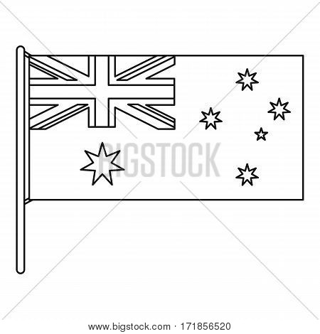 Australian flag icon. Outline illustration of australian flag vector icon for web