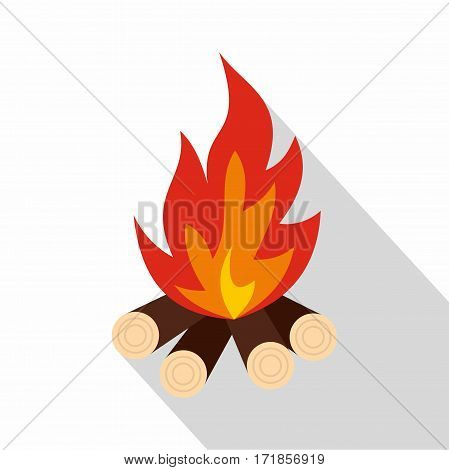 Bonfire icon. Flat illustration of bonfire vector icon for web