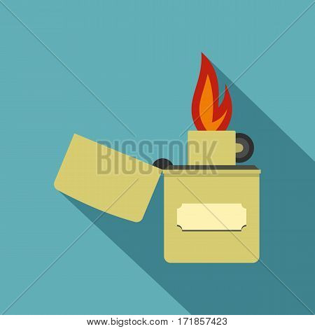 Lighter icon. Flat illustration of lighter vector icon for web