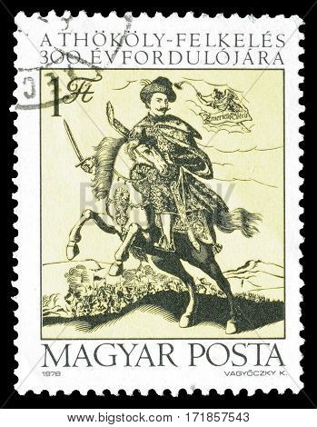 HUNGARY - CIRCA 1978 : Cancelled postage stamp printed by Hungary, that shows Count Imre Thokoly.