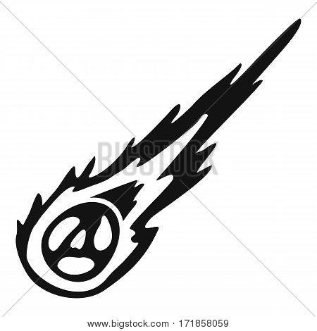 Meteorite icon. Simple illustration of meteorite vector icon for web