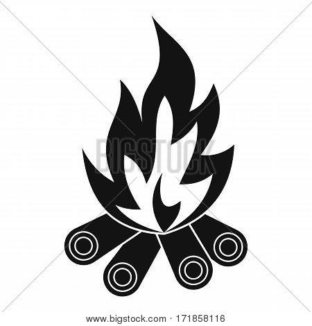 Bonfire icon. Simple illustration of bonfire vector icon for web