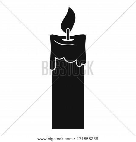Candle icon. Simple illustration of candle vector icon for web