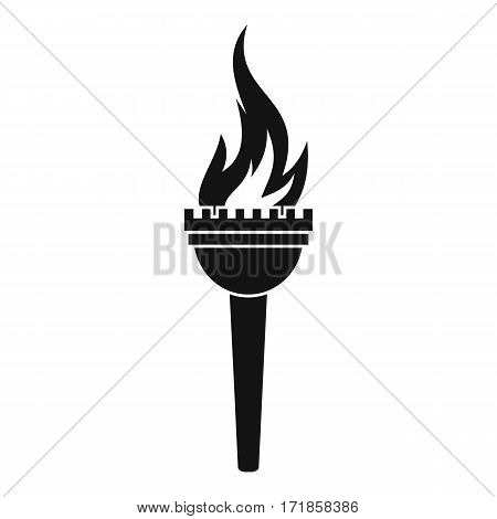 Torch icon. Simple illustration of torch vector icon for web