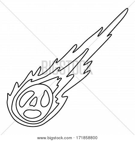 Meteorite icon. Outline illustration of meteorite vector icon for web