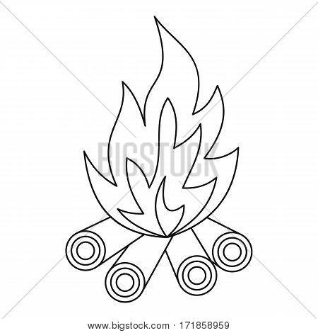 Bonfire icon. Outline illustration of bonfire vector icon for web