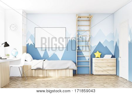 Front View Of Kid's Room With Table