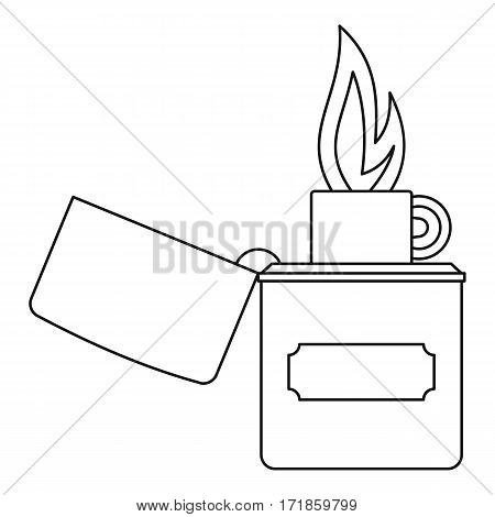 Lighter icon. Outline illustration of lighter vector icon for web