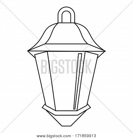 Street light icon. Outline illustration of street light vector icon for web