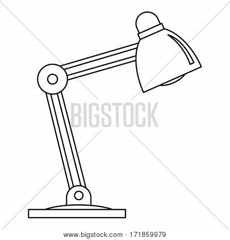 Table lamp icon. Outline illustration of table lamp vector icon for web