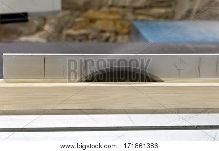 professional circular steel saw blade, side view