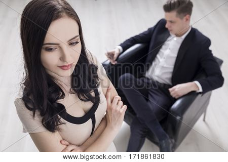Businesswoman Is Offended By Her Boss