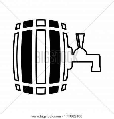 beer barrel silhouette isolated icon vector illustration design