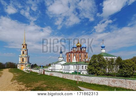 View of Ryazan Kremlin with Assumption Cathedral from the ramparts Russia