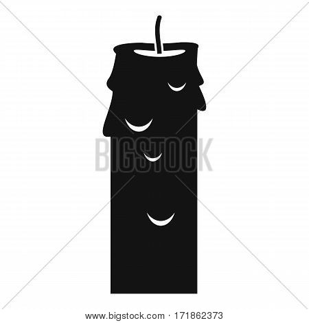 Paraffin candle icon. Simple illustration of paraffin candle vector icon for web