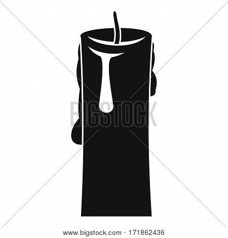 One candle icon. Simple illustration of one candle vector icon for web