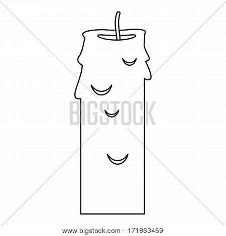 Paraffin candle icon. Outline illustration of paraffin candle vector icon for web