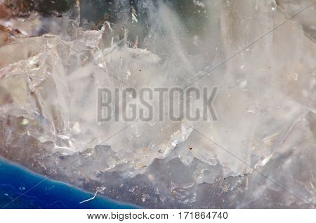Crystals abstract background with stone agate structure.