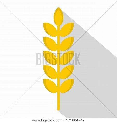 Grain spike icon. Flat illustration of grain spike vector icon for web