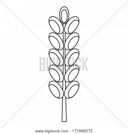 Field spike icon. Outline illustration of field spike vector icon for web