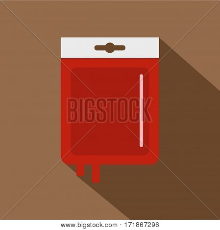 Blood transfusion icon. Flat illustration of blood transfusion vector icon for web