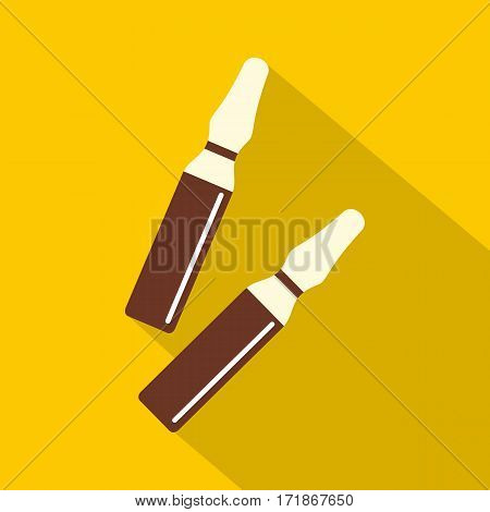 Iodine sticks icon. Flat illustration of iodine sticks vector icon for web